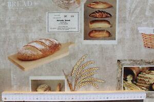 Dekostoff-Digitaldruck-Webware-B-amp-B-Fabrics-Brot-Landleben-Beige-140-cm