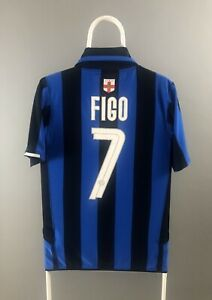 new concept d8c51 cb175 Details about Inter Milan Nike 2007 2008 7 Figo Home Shirt Jersey 100 Years  Anniversary Size S