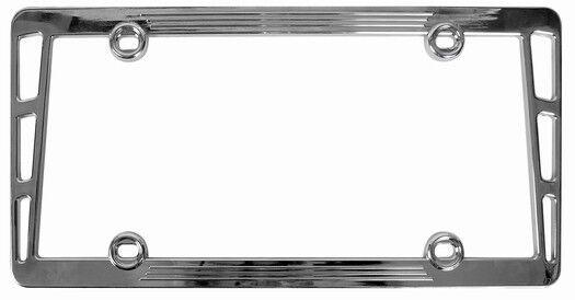 Custom Accessories 92590 Chrome Billet Type Metal License Plate ...