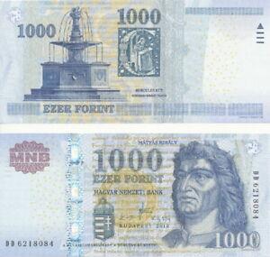 Hungary-Hungary-1000-Forint-2010-UNC-Pick-197b-Series-DD