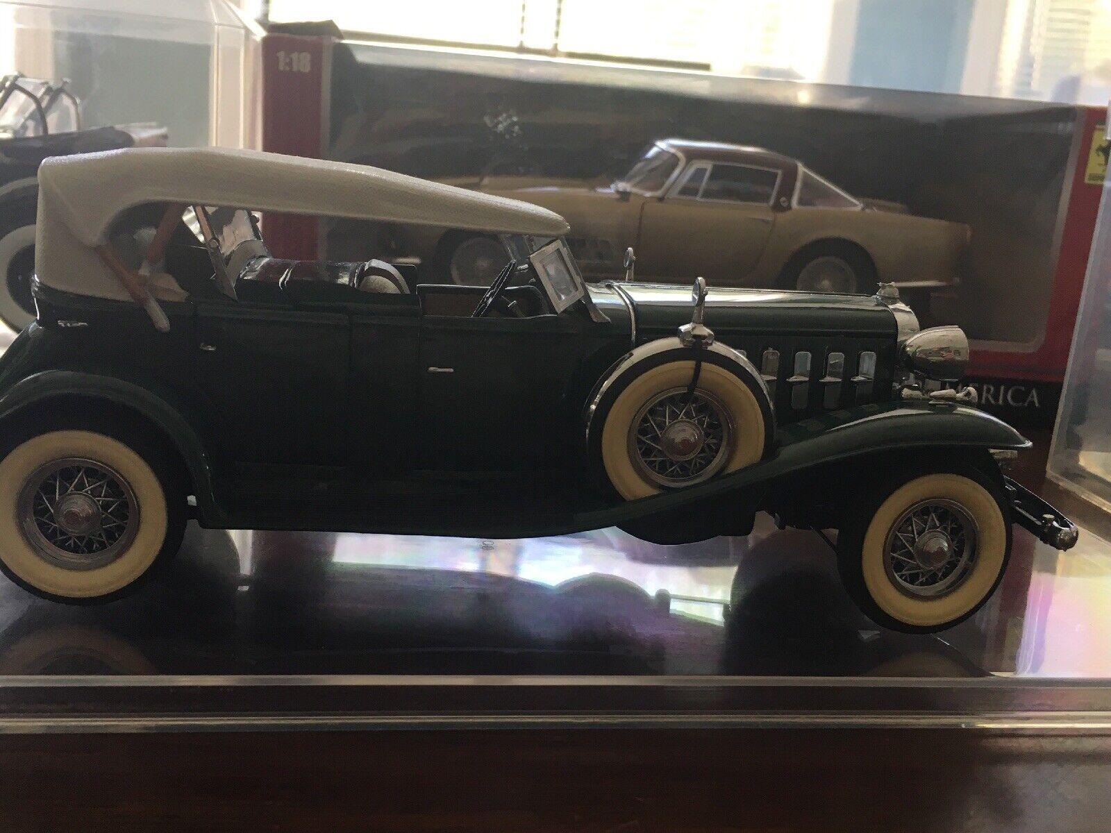 1 24 Diecast Green 1932 Cadillac V16 Roadster