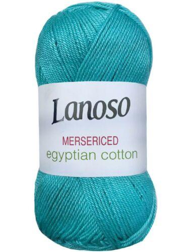 Lanoso Merserized 100g Baumwollgarn|100/% ägyptische merzerisierte Wolle Cotton