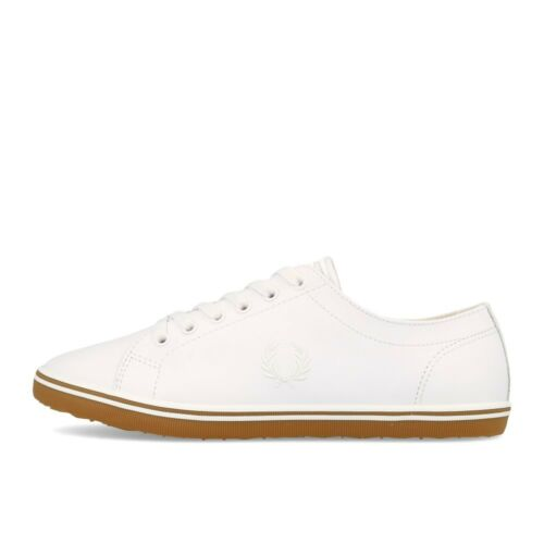 Fred Perry Kingston Leather White White Chaussures Sneaker Blanc Brun