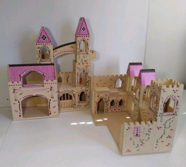 Melissa Doug Folding Wooden Princess Castle Dollhouse