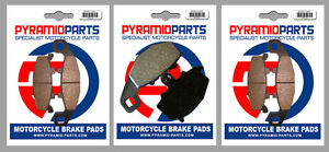 Front & Rear Brake Pads (3 Pairs) for Kawasaki ZR 550 Zephyr 93-99