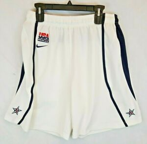 Nike-USA-Olympic-DREAM-TEAM-White-Nike-Basketball-Shorts-Large