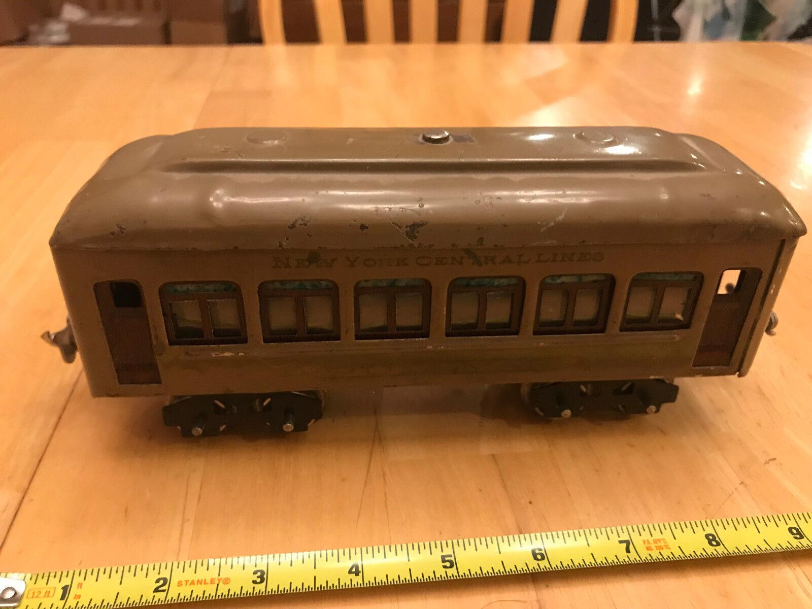 Tren Lionel O-preguerra Oliva Ejército New York Central Coche Pullman Pasajeros