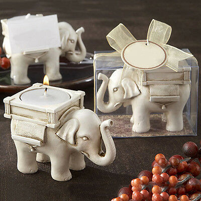 LUCKY ELEPHANT TEA LIGHT CANDLE HOLDER CANDLESTICK WEDDING FAVOR DECOR MODERN