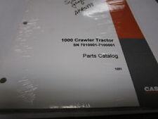 Case 1000 Crawler Tractor Sn 7010001 7100001 Parts Catalog