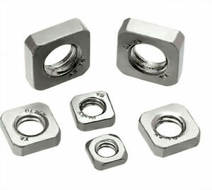 Stainless Steel Fastener 304 100pcs M3 Metric Square Nuts 18-8