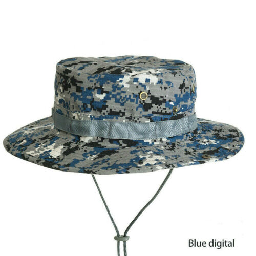 Camouflage Boonie Hat Hunting Fishing Camping Sun Camo Bucket Hat Army Cap