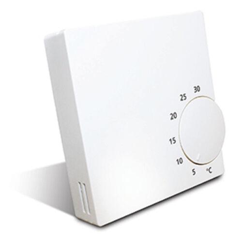 Thermostat Raumthermostat 230V geräuschlos Raumregler Salus RT10 Aufputz weiss