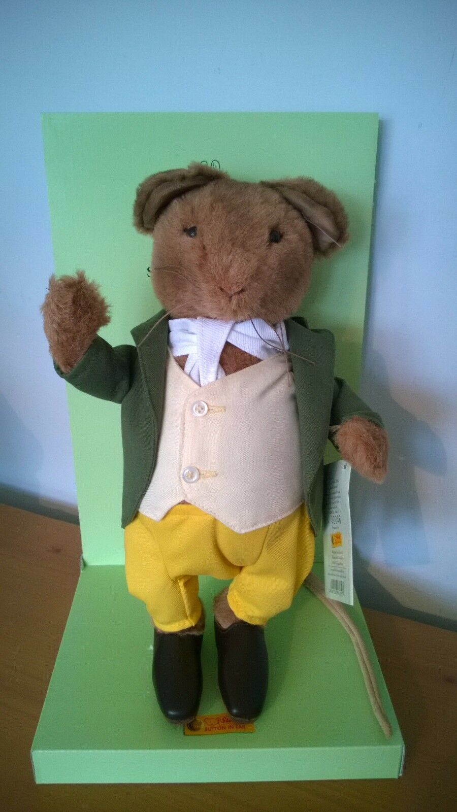 Steiff Beatrix Potter Samuel Whiskers Ean 662393 with box Free UK Postage .