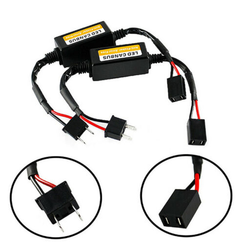 2Pcs H7 Led Headlight Canbus Error Free Anti Flicker Resistor Canceller Decod HG