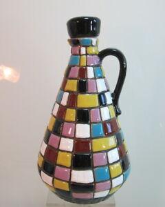 Karaffe-Mosaik-Keramik-Fugger-Likoere-Berling-tolle-Farben