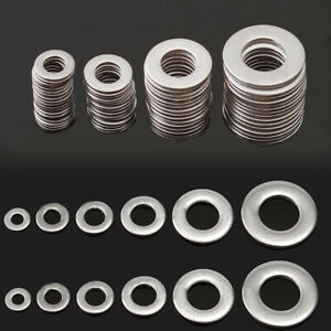 105PCS-Stainless-Steel-Washers-Metric-Flat-Washer-Screw-Kit-M3-M4-M5-M6-M8-M10