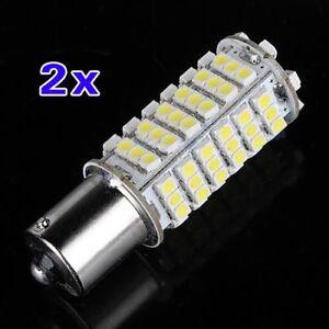 2X-Voiture-1156-382-BA15S-P21W-Blanc-102-SMD-LED-Arriere-frein-Signal-Ampou-C1X4