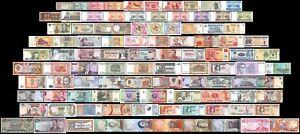 100 Stück-PCs, einer anderen Welt Mix ausländische Banknoten Währung, uncirculated