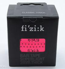 Fizik Superlight 2mm Superlight Road Bike Bar Tape Neon Pink Fluorescent w/Logos