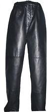 9001 Men Black Soft Sheepskin Leather Long Classic Dress Waisted Pants 35W30L