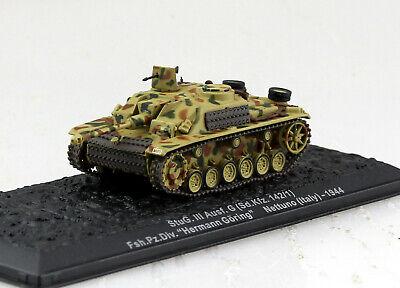 Panzer Sturmgeschütz 3 G Wehrmacht Italien 1944 Fertigmodell 1:72 Altaya Modell