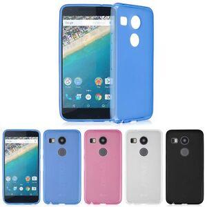For-LG-Google-Nexus-5X-2015-Ultra-Thin-Slim-Soft-TPU-Gel-Skin-Matte ...