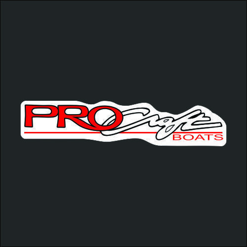 Pro Craft Red White Carpet Graphic Decal Sticker for Fishing Bass Boats