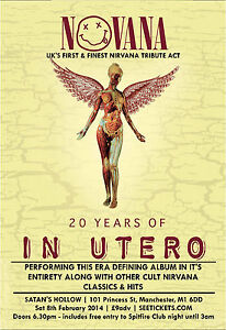 Image Is Loading Nirvana In Utero Tour Huge Wall Poster 34