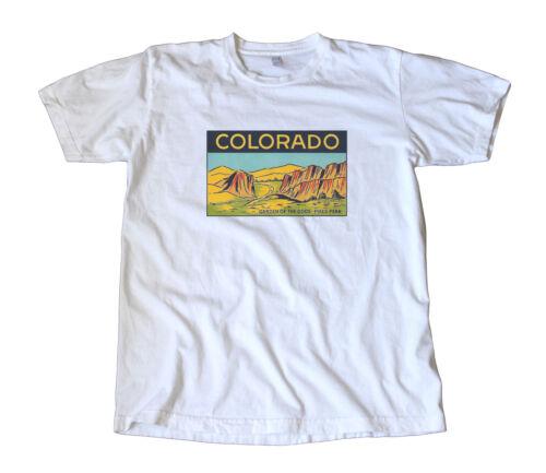 Rock Climbing Garden of the Gods Colorado Springs Vintage Travel Decal T-Shirt