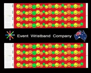 100-x-Multi-Colour-Face-Tyvek-party-security-wristbands