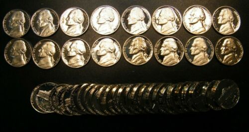 1976 S Gem PROOF Roll Jefferson Nickels from US Mint Proof Sets Coins