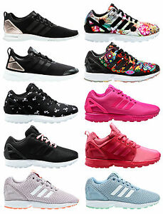 innovative design 8b412 60abd Image is loading ADIDAS-ORIGINALS-ZX-FLUX-W-Adv-Smooth-Women-