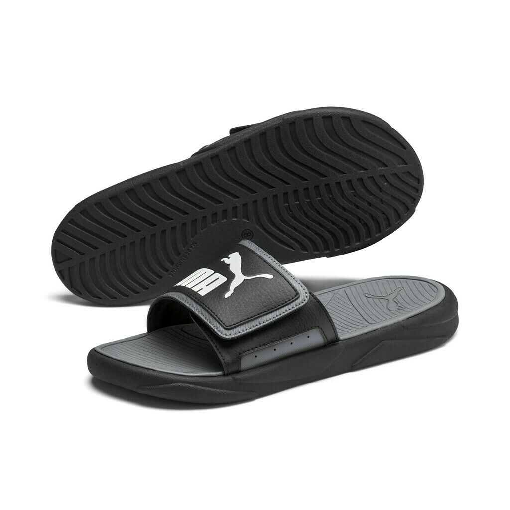 Puma Unisex Slides Beach Sandals Slippers Royalcat Comfort 372280 Black