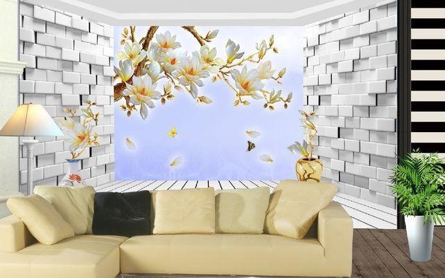 3D Fiori, parete Parete Murale Foto Carta da parati immagine sfondo muro stampa