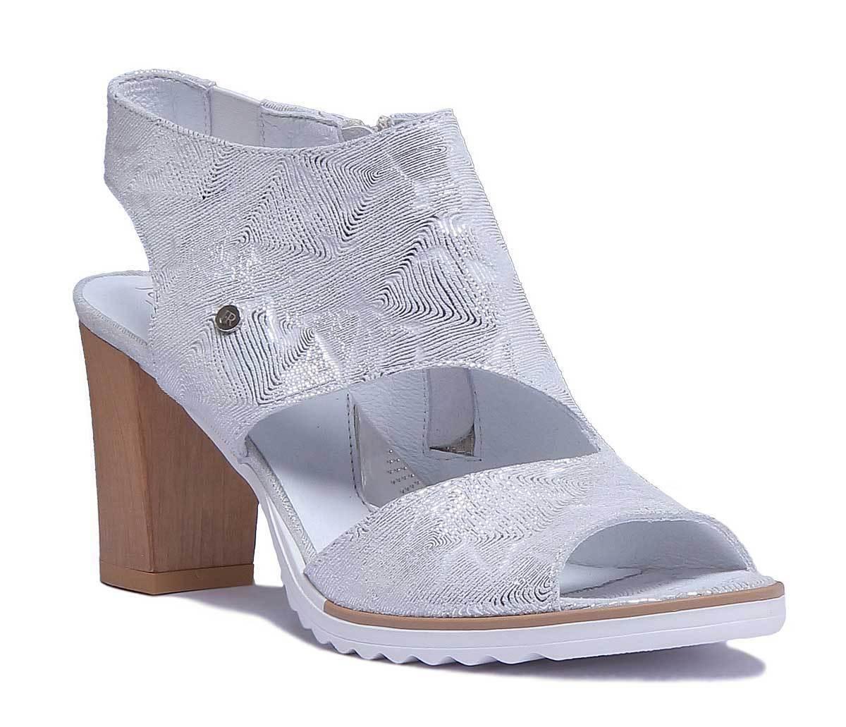 Justin Reece Peep Toe High Heel Textured Textured Textured Leather HIgh Heel Sandal Size UK 3 - 8 449fe8