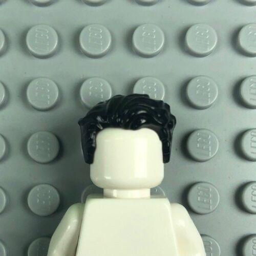 LEGO Black MINIFIGURE HAIR Male Short Swept Left Tousled 23186 x1