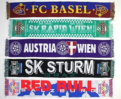 Basel Scarf Rapid Austria Wien Sturm Graz Red Bull Salzburg Football Scarves Fan Ebay