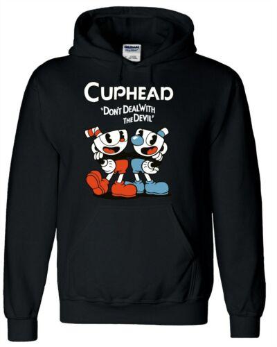 Cute Teacup Cuphead Hoodie Pullover With Big Pocket Sweatshirt Coat 3 Colors