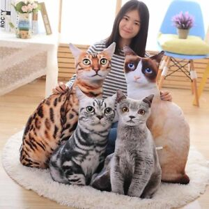 3D-Simulation-cat-pillow-4-styles-gray-cat-toy-Funny-cat-doll-cushion-plush-toys