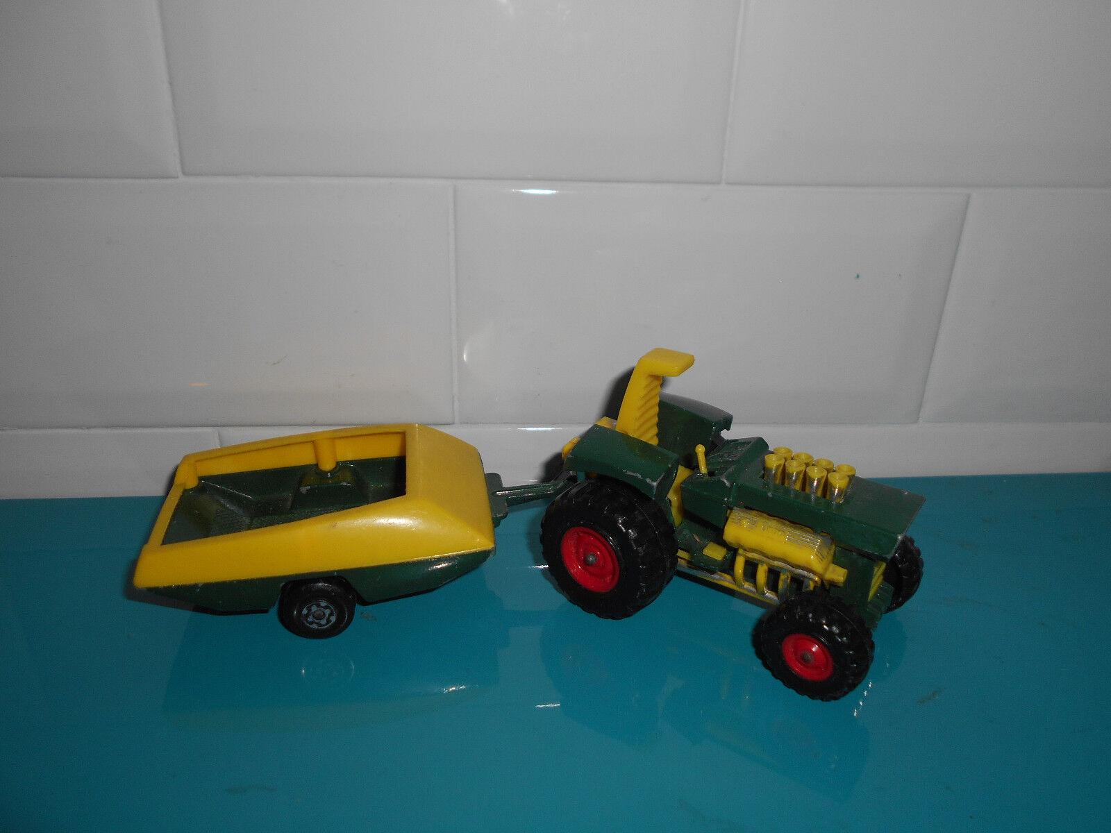 Verde rare Mod tractor trailer Pré-production K-3 matchbox super kings tracteur