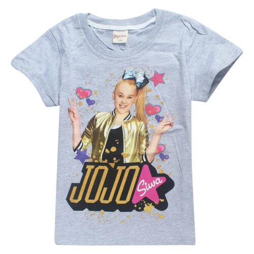 Cotton JoJo Siwa Girls Top Short Sleeve T Shirt Tee Be Your Own Star Size New