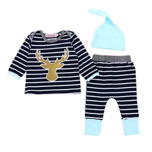 Newborn Baby Boys Girls Tops Romper  Bodysuit Jumpsuit Pants Outfits Clothes Set