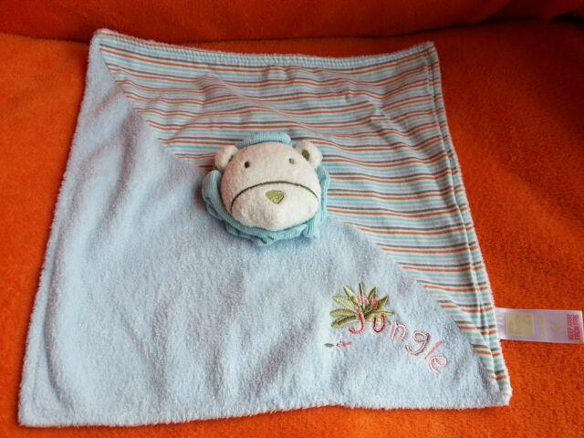 Adams Little Bundle Blue Lion Comforter Blankie Doudou Soft Toy Jungle