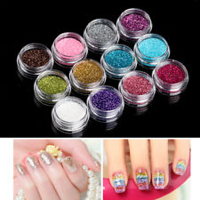 12 Pots Mix Color Glitter Dust Powder Set For Nail Body Art Craft Decoration