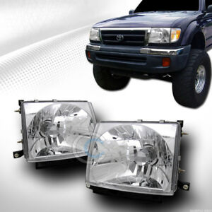 Details About Jdm Sport Crystal Clear Headlights Lamps Ks For 1997 2000 Toyota Tacoma 2wd 4wd