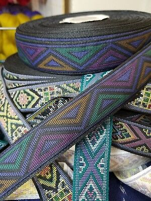 Native Jacquard fabric trim 1 1//2 inch wide by the yard