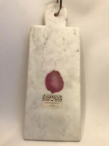 Cynthia Rowley Home Stone Cheese Board Display Board Kitchen Decor Cream Pink Ebay