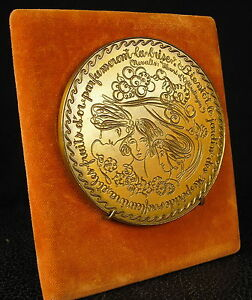 Large-Medaille-347g-100mm-Voeux-romantiques-bonne-annee-Happy-New-Year-Medal