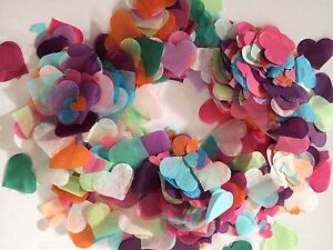 Image Is Loading Biodegradable Confetti Rainbow Heart Wedding Decorations Up To