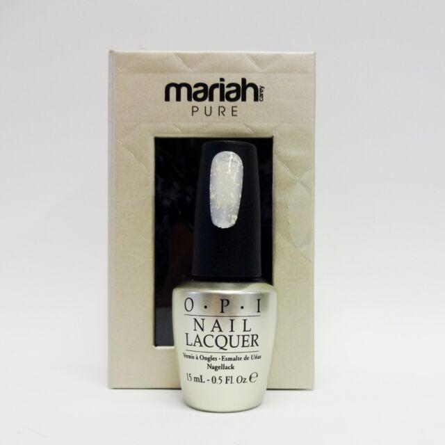 OPI Nail Polish Mariah Carey Holiday 2013 Pure 18K White Gold & Silver Top Coat